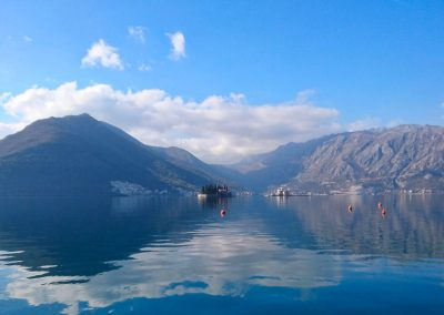 A view of the Bay of Kotor, in north Montenegro