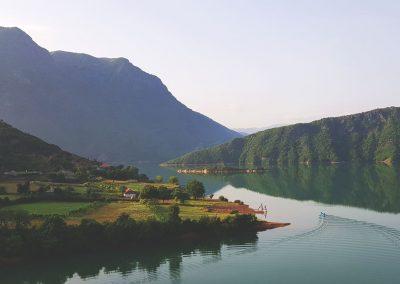Lake Koman at dawn